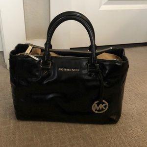 Michael Kors Soft Black Leather Satchel